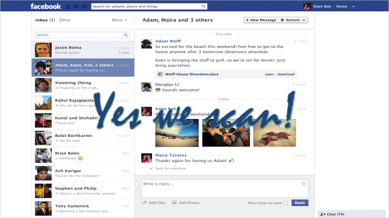 Facebook Facing Lawsuit for Scanning Users' Private Messages for Likes