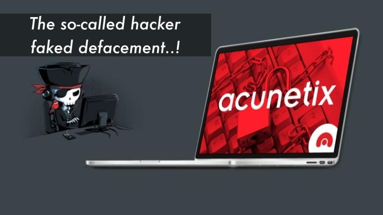 No, Acunetix Website was NOT hacked