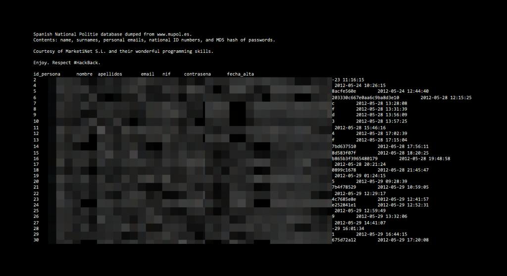 Exclusive screenshot from the dumped data / Photo Waqas Amir