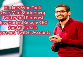 Google CEO Sundar Pichai's Quora and Twitter Accounts Hacked