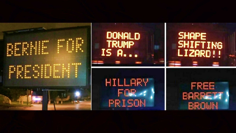 Someone is hacking traffic signs in US and replacing them with their own messages