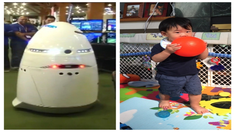 5-foot-tall security robot knocks down 16-month-old