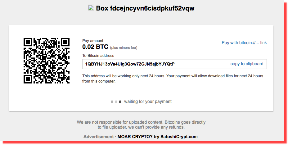 Screenshot shows hacker is offering data in Bitcoins
