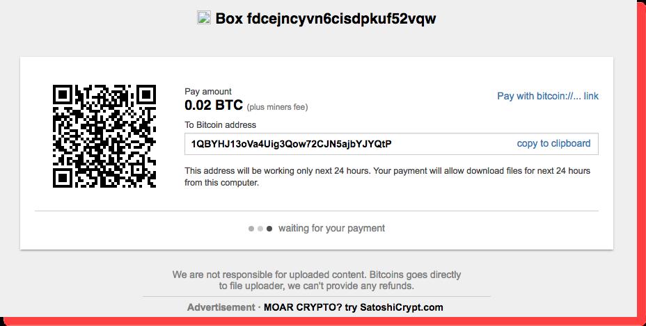 Screenshot shows hacker is offering data in Bitcoins