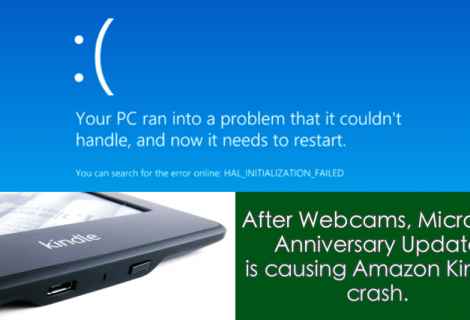 Windows10 Anniversary Update Causing Devices to Crash - Yet Again!