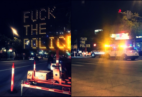 Someone Hacked Traffic Sign with Anti-Police Message in Denver