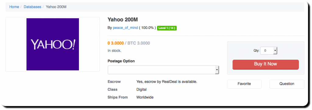 Tale of 200 Million Yahoo User Data: One guy selling; one ...