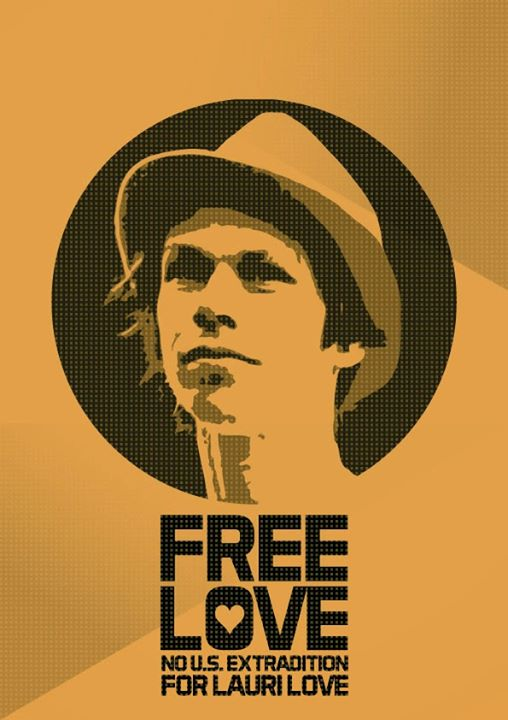 A poster in support of Lauri Love