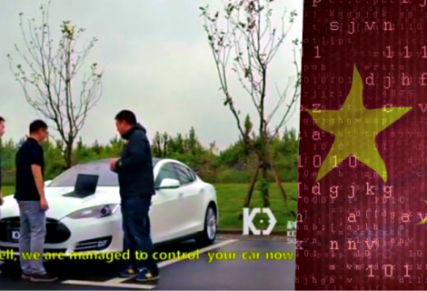 Watch Chinese hackers taking control of Tesla's brakes from 12 miles away