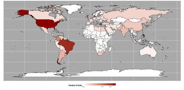 Global Distribution of Mirai bots