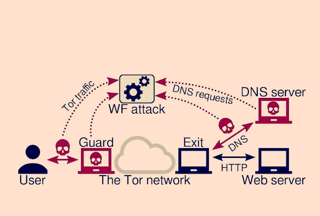 Past traffic correlation studies have focused on linking the TCP stream entering the Tor network to the one(s) exiting the network. We show that an adversary can also link the associated DNS traffic, which can be exposed to many more autonomous systems than the TCP stream.