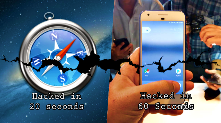 Hackers Pwned Apple Safari in 20 seconds; Google Pixel in 60 seconds