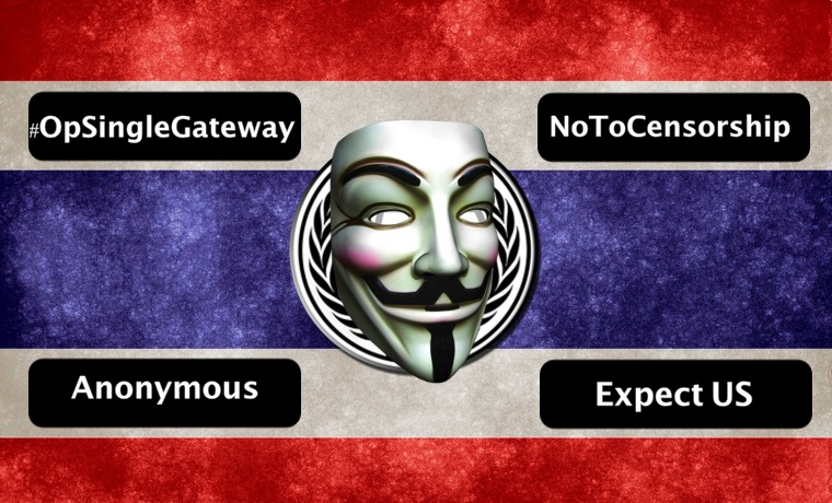 Anonymous Shut Down Thai Sites Against Internet Censorship, Surveillance Law