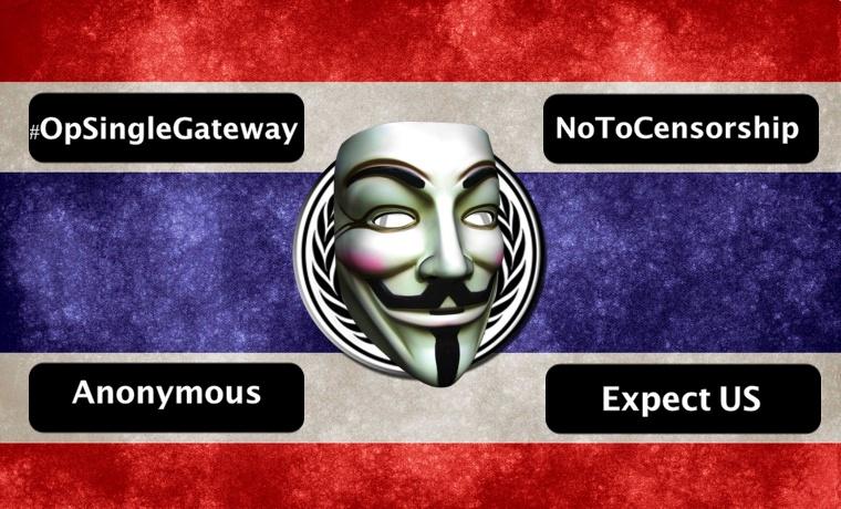Anonymous Shut Down Thai Sites Against Internet Censorship, Surveillance Law
