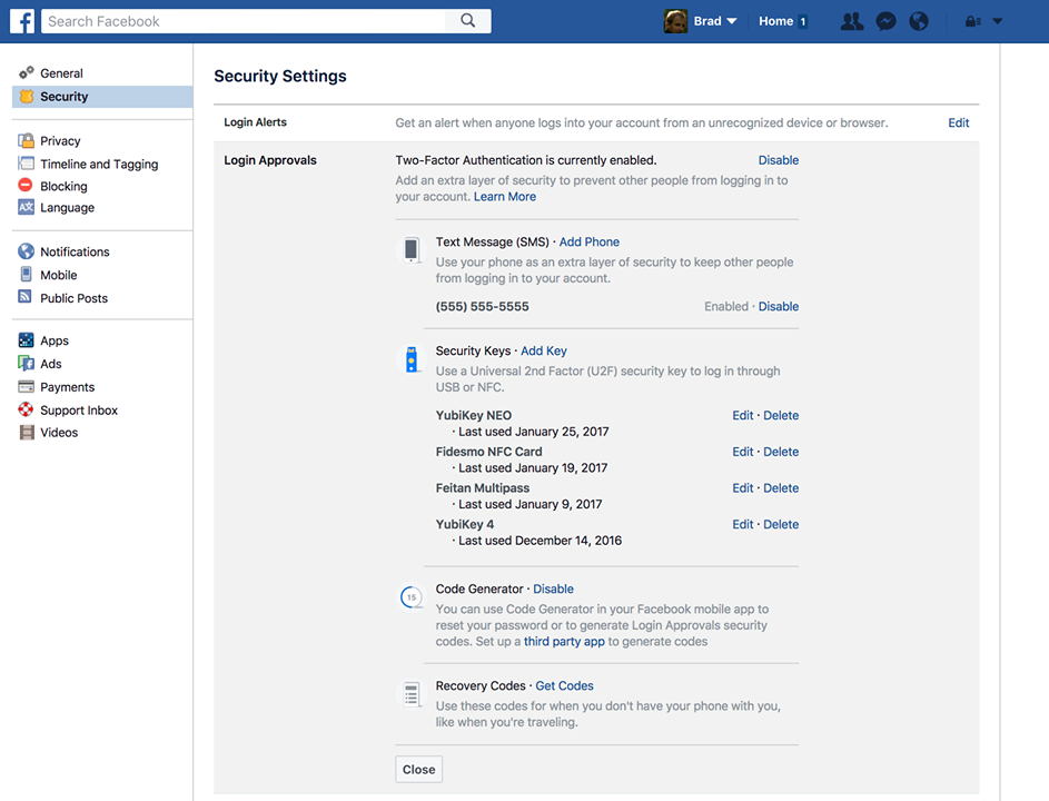 "Now Facebook has a ""security key"" feature to protect you ..."