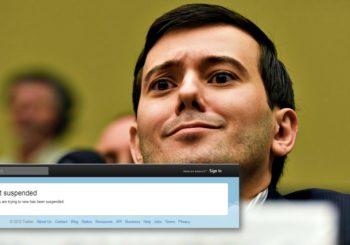 Twitter suspends 'Pharma bro' Martin Shkreli' account for harassment