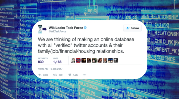 Wikileaks Support Account Deletes Tweet about Making Database of Verified Accounts