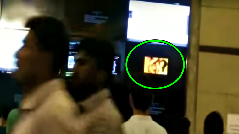 Someone hacked train station' screen in India with Hardcore Porn