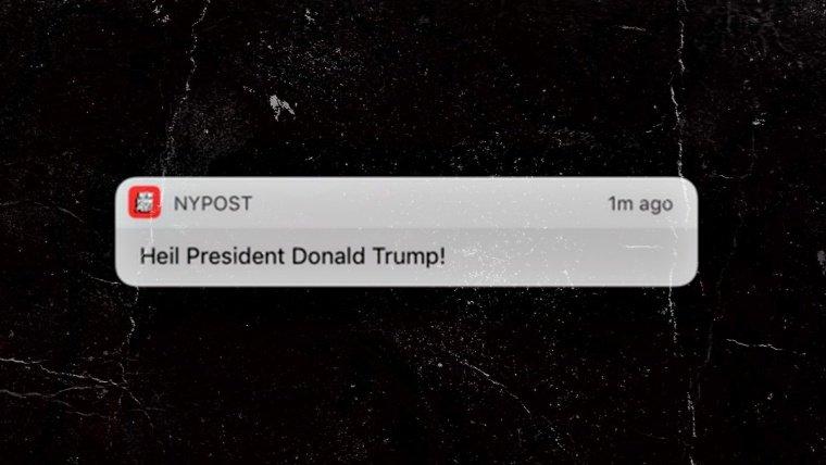 "New York Post's App Hacked to Send ""Heil Trump"" Notification"