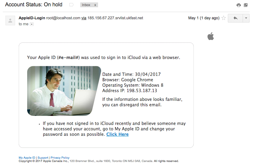 New iCloud Phishing Scam steals credit card data, access device' camera