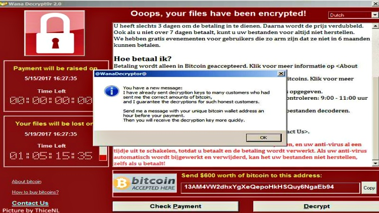 WannaCry Ransomware Attackers are sending new message to victims
