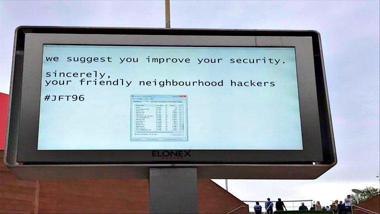 """Good hackers"" took over billboard to send security warning"