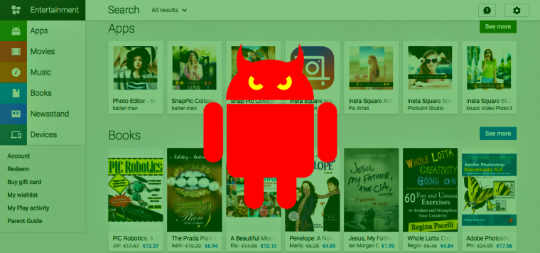 Google is having a hard time getting rid of malicious Android apps