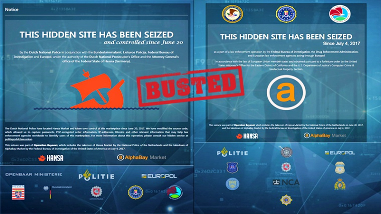 Dark Web' AlphaBay and Hansa Marketplaces Seized by Feds