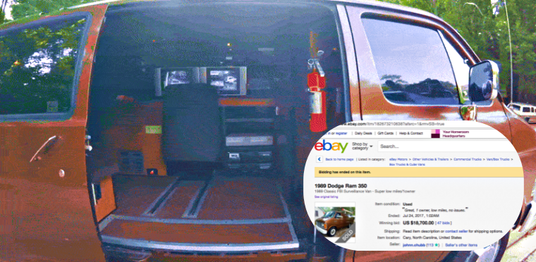 FBI's Surveillance Van Sold on eBay for US $18,700