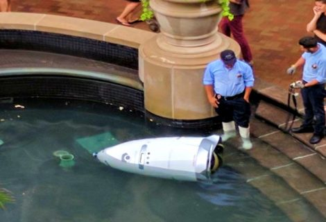 """Security Robot Found """"Drowned"""" in An Indoor Fountain"""