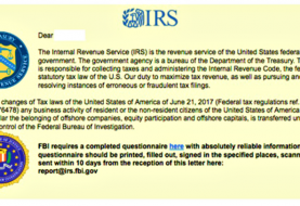 New Ransomware Email Scam Using FBI and IRS as Bait
