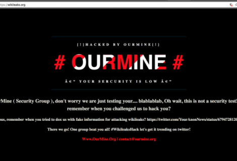 WikiLeaks official website hacked by OurMine hacking group