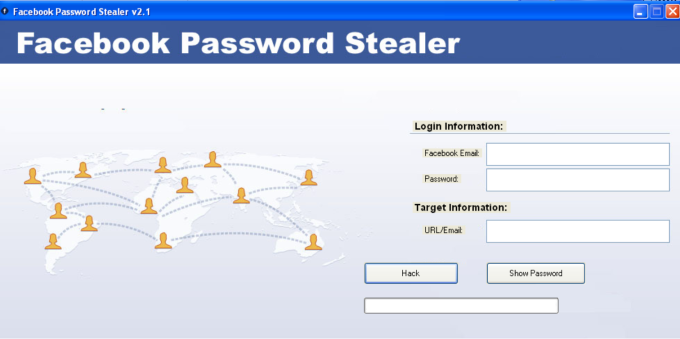 Facebook password stealer; hacking the attacker rather than victim