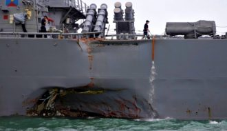 US Navy investigating whether its crashed ship was hacked