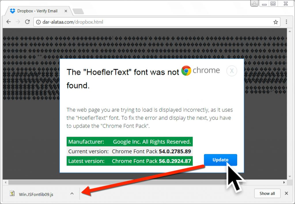 Fake Google Chrome Font Update Delivers RAT Malware