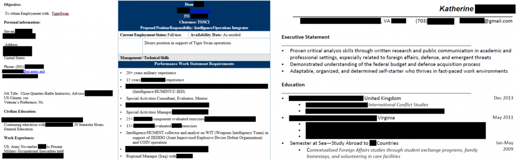 Trove of Private Military Contractor Job Applicants Exposed Online