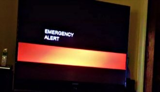 "TV broadcasts in California interrupted to show ""end of the world"" alert"
