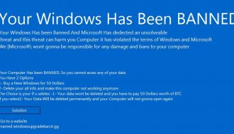 """Your Windows has Been Banned"" Malware Re-emerges with Higher Ransom Demand"