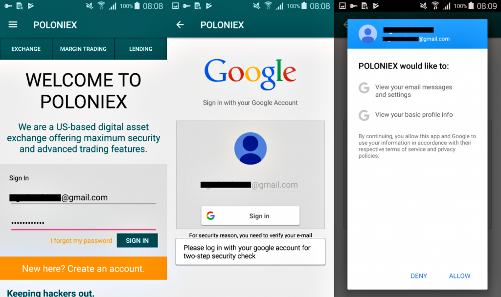 Fake Poloniex Cryptocurrency Apps Steal Credentials of Android Users