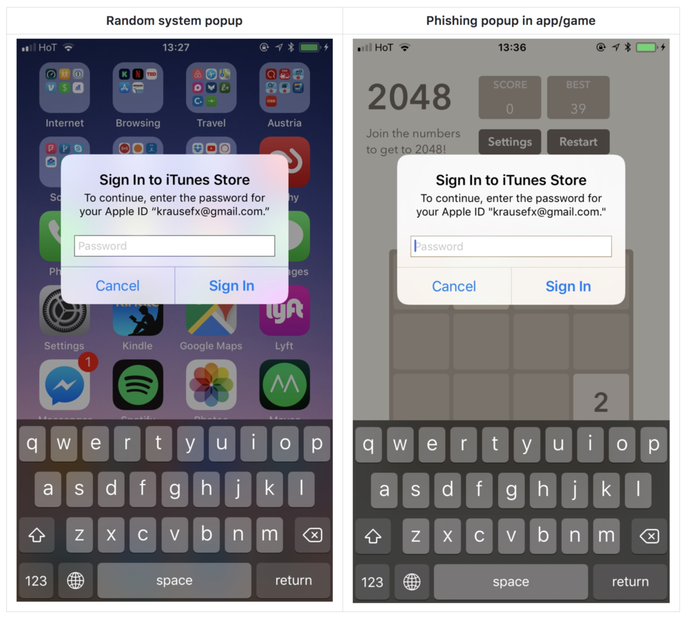 iOS vulnerability makes Apple ID passwords prone to Phishing Attacks