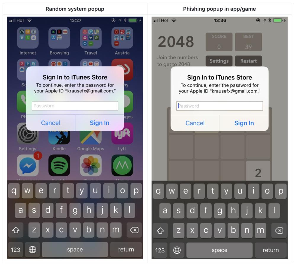 iOS vulnerability makes Apple ID passwords prone to Phishing Attacks