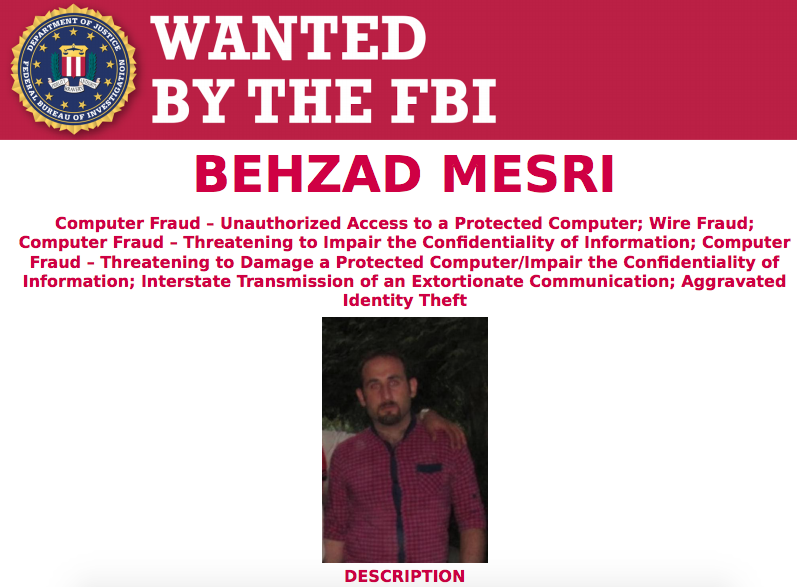 Behzad Mesri Alleged HBO hacker identified, charged and indicted
