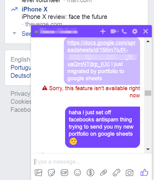 Facebook Employees Caught Going Through user file sent in private chat