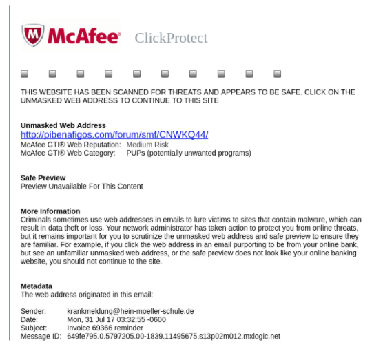 McAfee's ClickProtect Mistakenly Infected Users Computers with Dangerous Banking Trojan