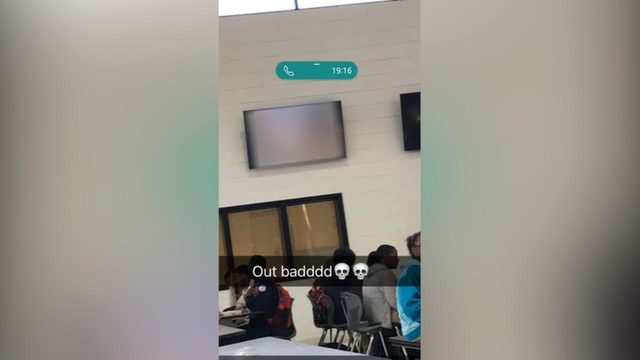 School cafeteria TV monitor plays porn leaving students baffled
