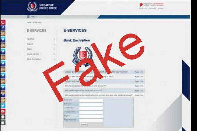 Woman scammed for $60,000 through fake Police website