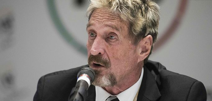 """John McAfee' Twitter account hack: """"Most likely my phone was compromised"""""""