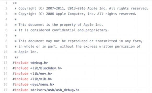 Apple's iBoot Baseband Code Leaked on GitHub