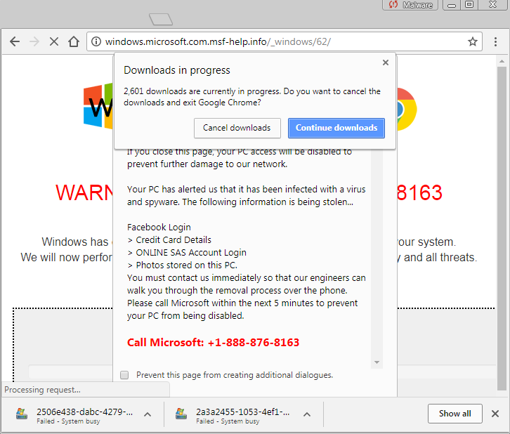 New Tech Support Scam That Freezes Chrome, Firefox & Brave Browser