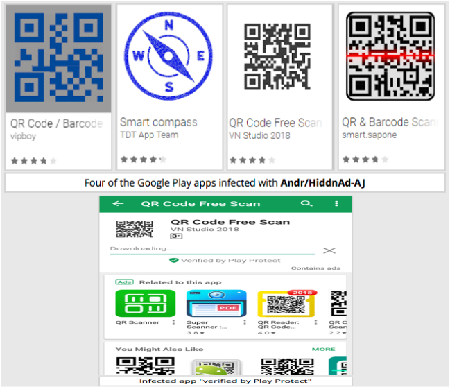 Android Malware in QR Readers on Play Store by Tricking Play Protect